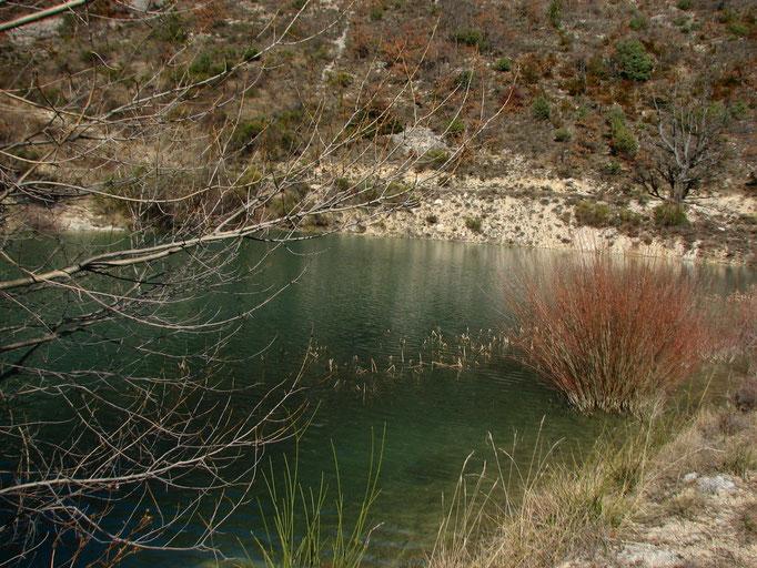 retenue d'eau a Vercoiran (Baronnies )