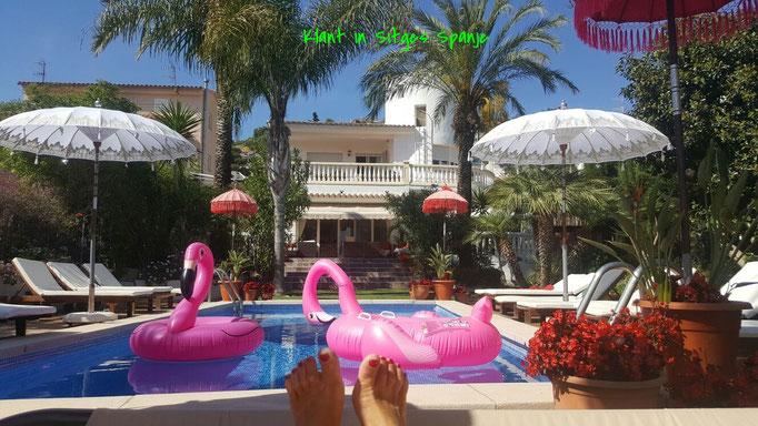 Spaanse klant met eigen zwembad in Sitges