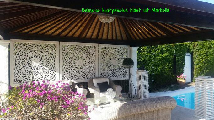 Achtertuin van een tevreden klant in Marbella