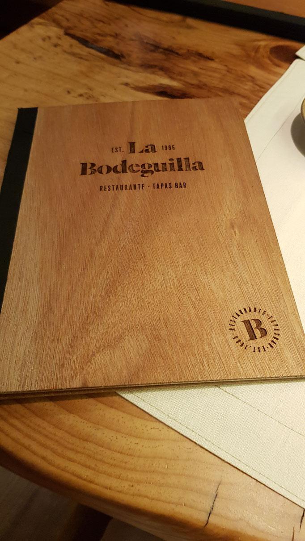 Speisekarte La Bodeguilla