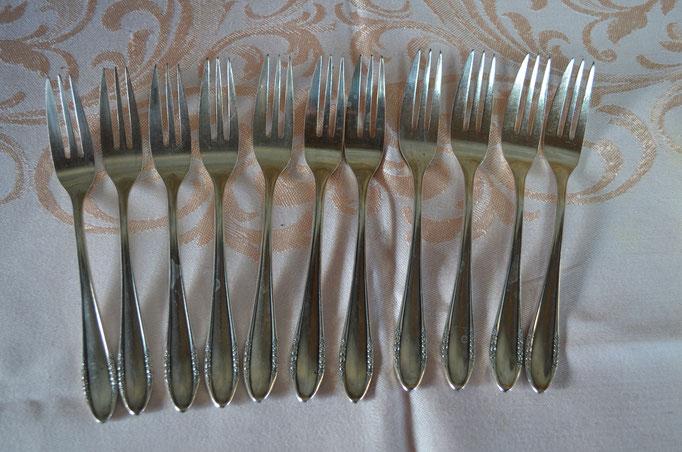 11 BSF Platura Kuchengabeln, 90 Silberauflage. Preis: 22,00 €