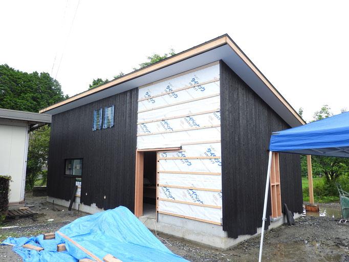 伊賀市の新築 店舗 阿山農産様工事の様子
