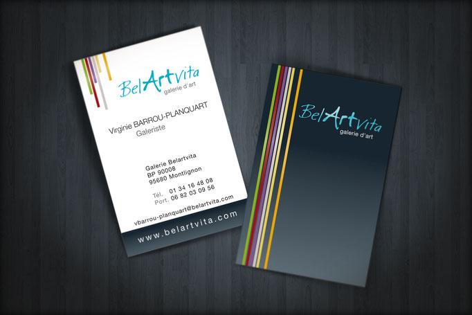 """Logo et identité visuelle """"Belartvita"""" - Pour l'agence Pragma"""