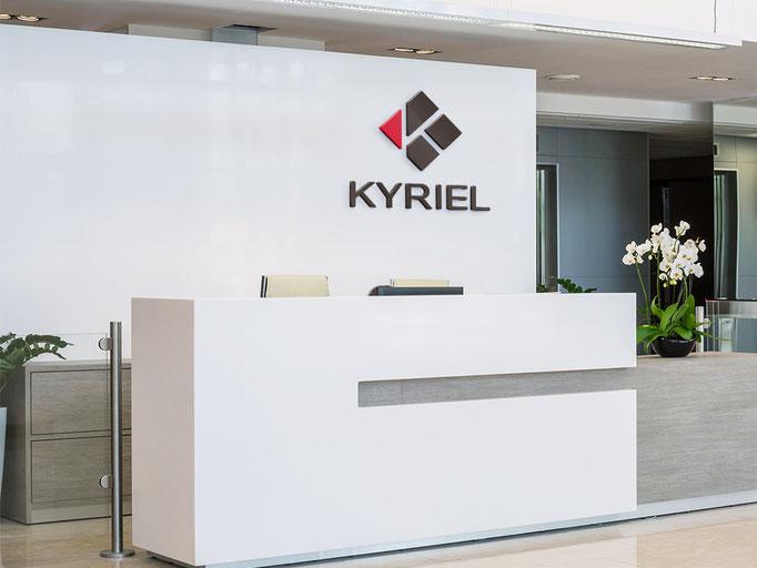 Logo  et déclinaison de la signalétique - Immeuble Kyriel - Pour l'agence Image Point Com