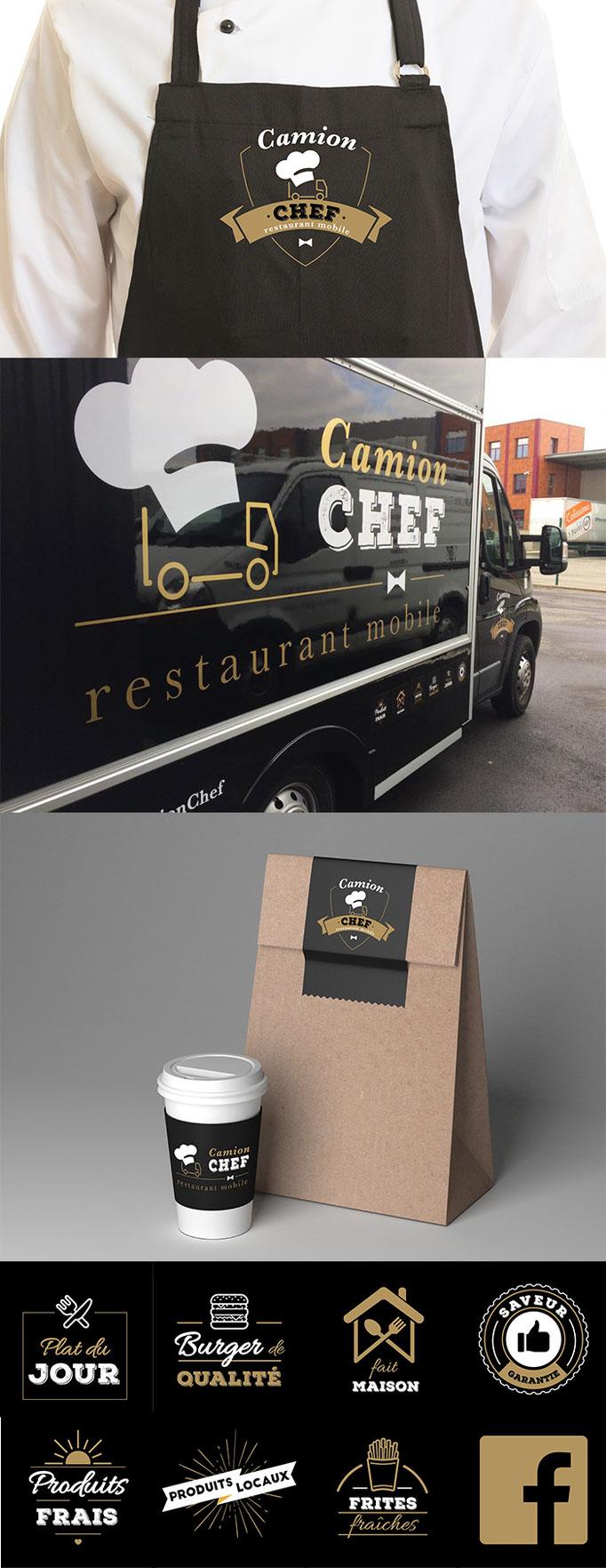 """Logo et identité visuelle """"Camion Chef"""""""