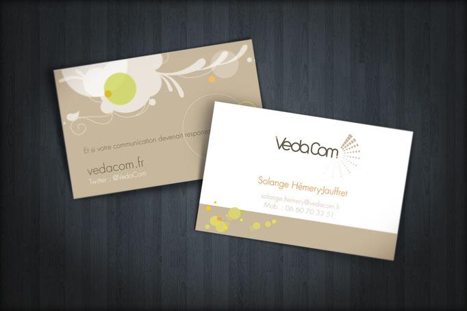 """Logo et identité graphique société """"Vedacom"""" - Pour l'agence Pragma"""