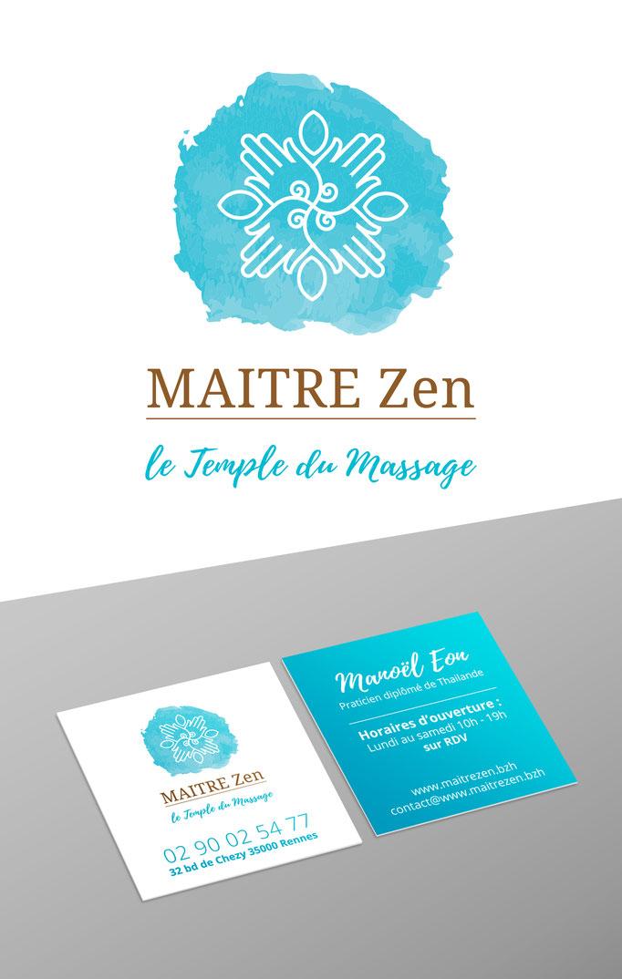 Identité et logo Salon de massage Thaïlandai - Maitre Zen