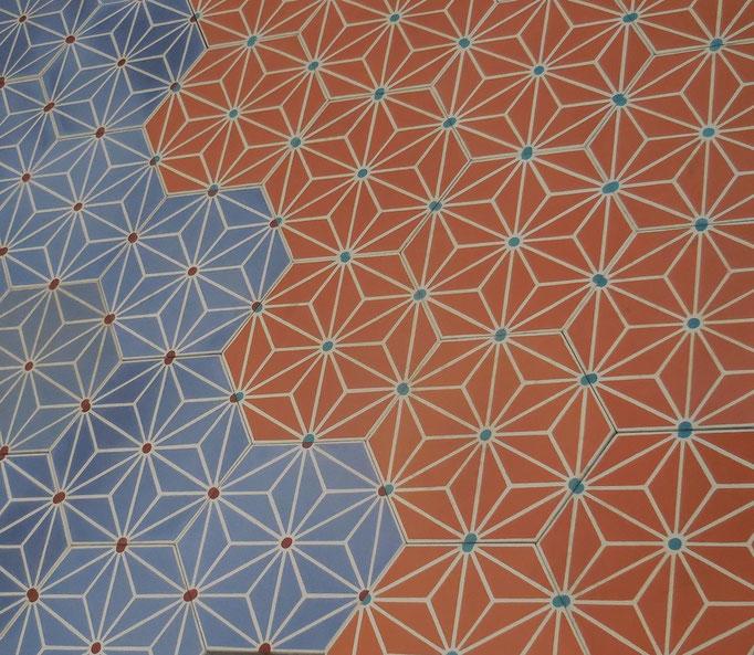 SOUTHERN TILES_Southern Tiles, Zementfliesen -Sonderedition- Dekor: Starburst, Hexagon 20x23 cm