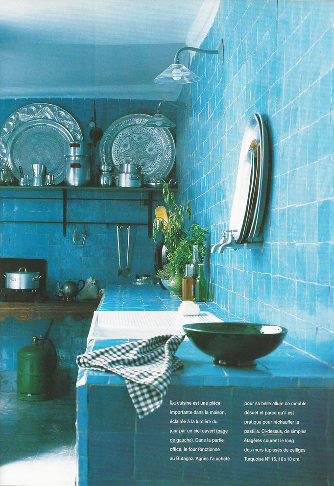 Zelliges, turquoise 10x10 cm