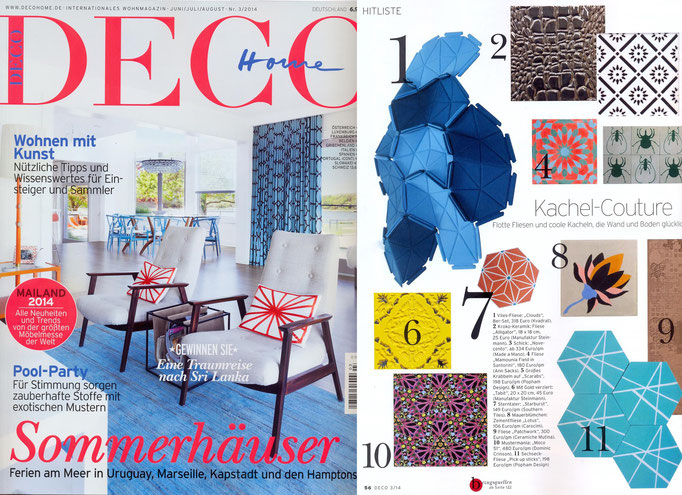 "DECO Home, Nr. 3/2014: Abbildung Nr.7 ""Starburst"", Zementfliese 20x20 cm"