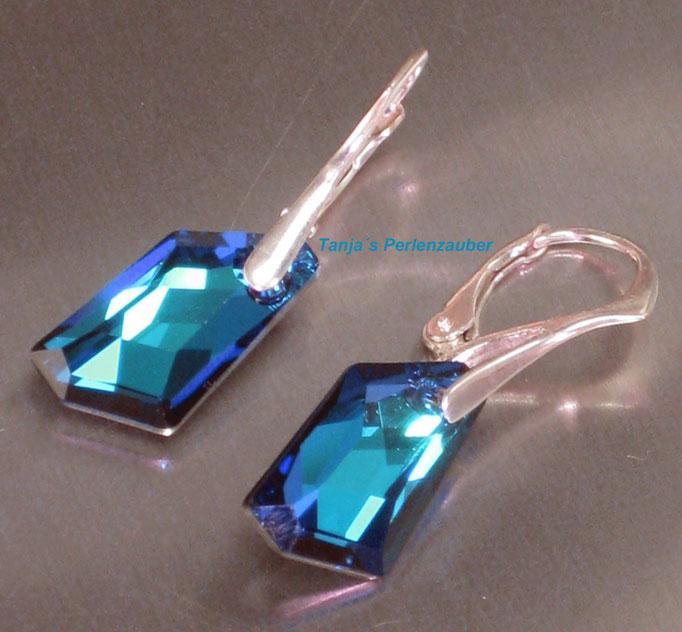 Bermuda Blue 925 Sterling Silber Ohrhänger