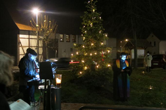 Eine Fichte wurde gepflanzt und dient jetzt immer als Weihnachtsbaum