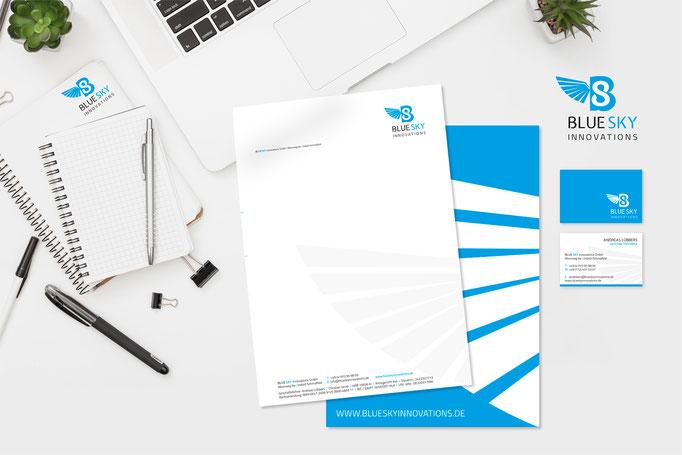 Kunde: Blue Sky / Logoentwicklung / CI