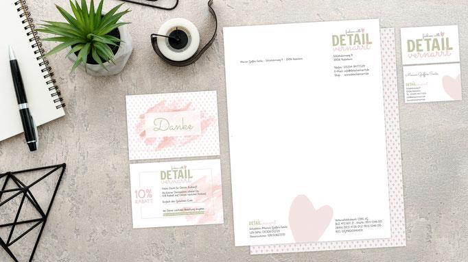 Kunde: Detailvernarrt / Logo-Entwicklung / Geschäftsausstattung