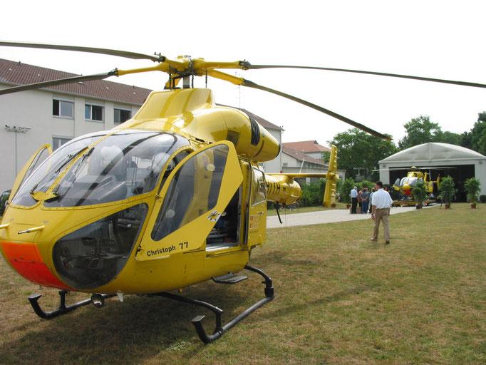 Tag der Umstellung MD 900 D-HITH auf EC145 D-HLRG