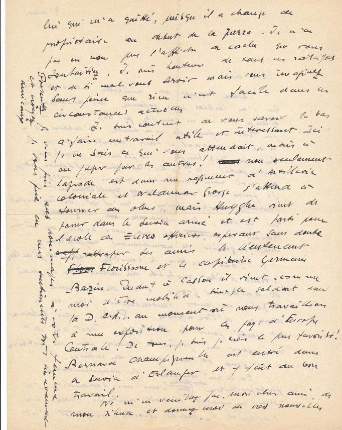 Lettre autographe de Raymond Cogniat