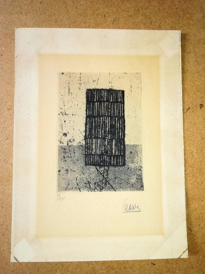 Gravure signée du sculpteur César CD Galerie achat vente estampes