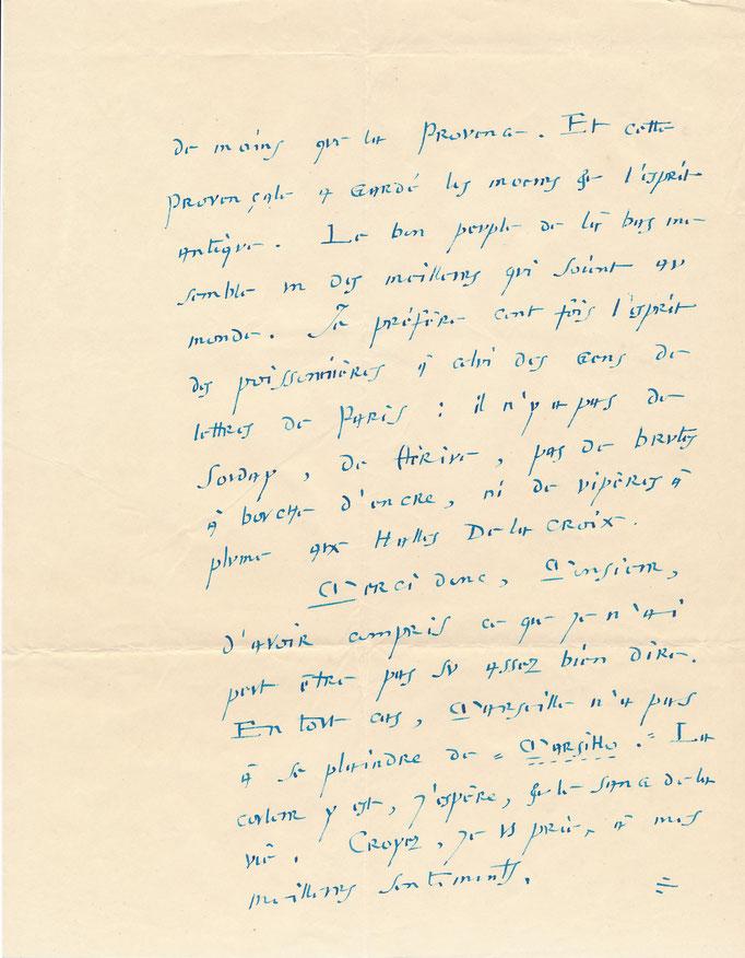 André Suarès sur Marseille amour lettre autographe signée CD Galerie Achat Vente