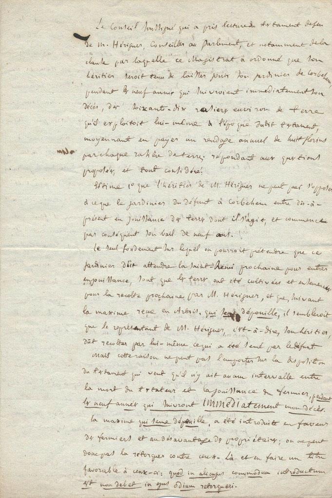 Merlin de Douai, pièce autographe signé