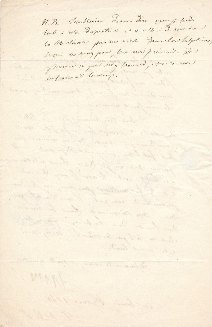 !Louis Francisque Lélut médecin philosophe lettre autographe signée achat vente lettres anciennes