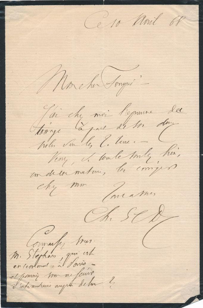 Charles Sainte-Claire Deville : lettre autographe signée