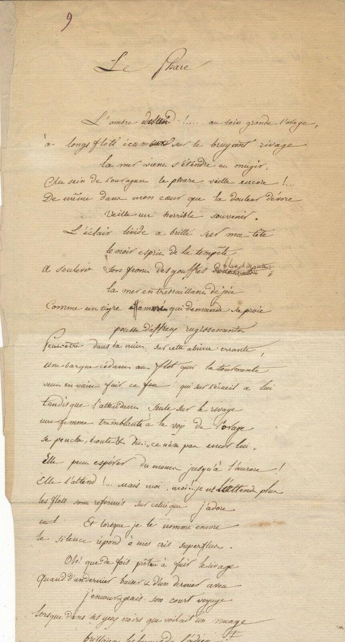 Charles Emile Souvestre manuscrit autographe