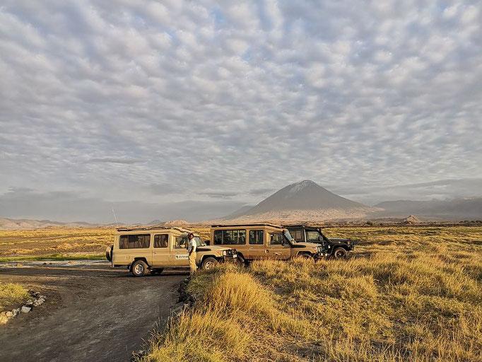 Unser Jeep auf einer Tansania Safari am Lake Natron