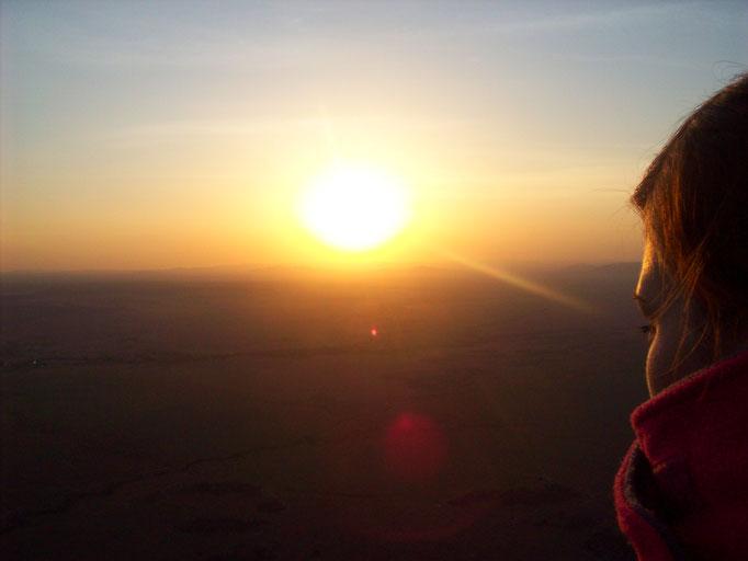 Sonnenuntergang auf einer Kenia Safari