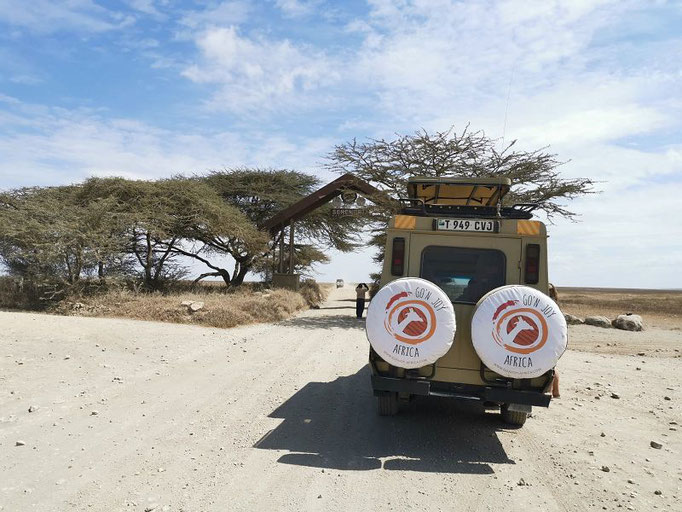Unser Jeep auf einer Tansania Safari