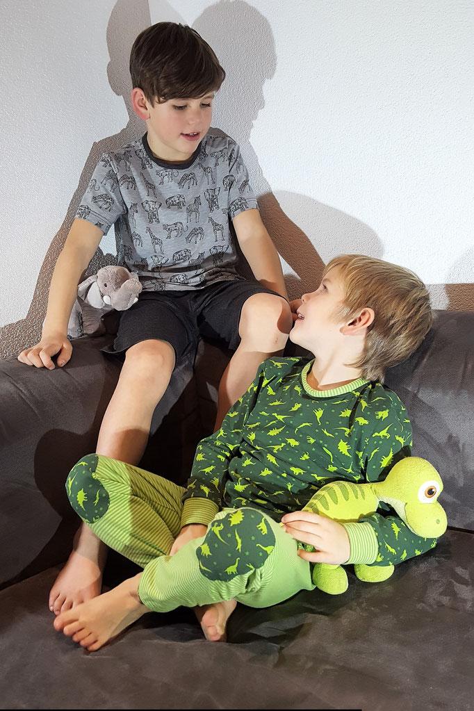 Schnittmuster Pyjama Mädchen und Jungs Lang oder Kurz