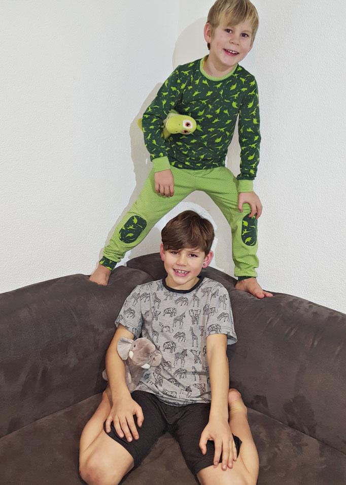 Schnittmuster Schlafanzug für Mädchen und Jungs