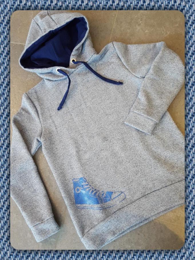 Sweatshirt und KaputzenPullover ganz einfach zum nähen