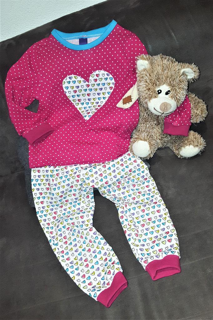 Schnittmuster Pyjama Mädchen und Jungs Schlafanzug