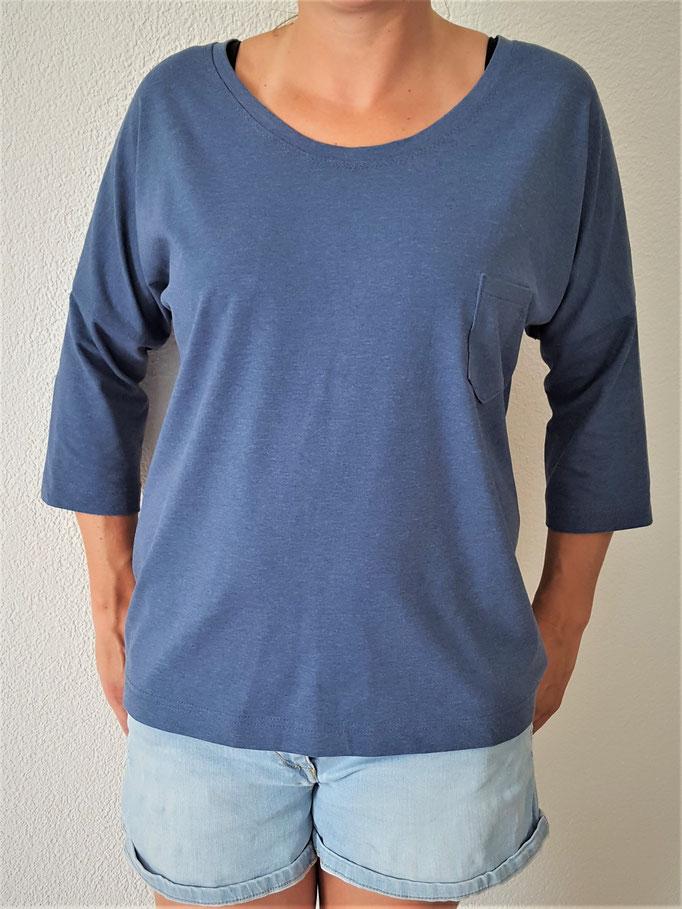 Schnittmuster Shirt mit angeschnittenem Ärmel Damen