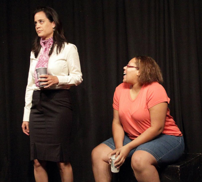 Sondra Hunt (Eleanor) and Ariel Griffin (Charlene).