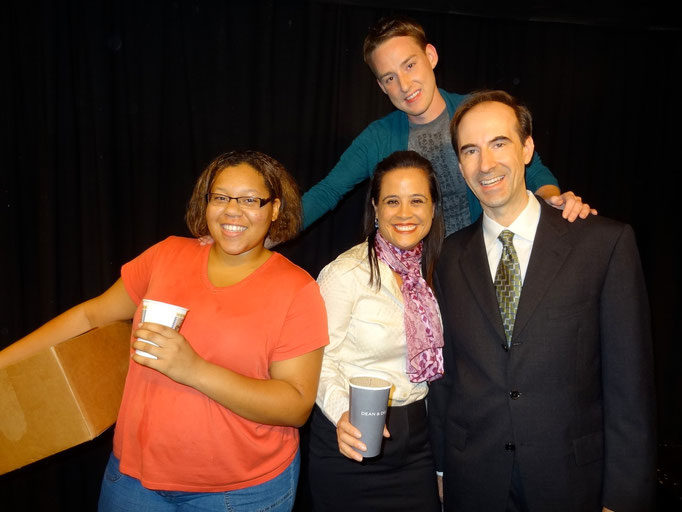 Ariel Griffin (Charlene), Sondra Hunt (Eleanor), Bradley LeBoeuf (director), and Joseph Sexton (Richard).