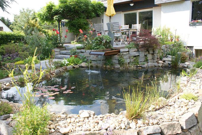 GFK Teich, Gartengestaltung Gelbrich - Wuppertal