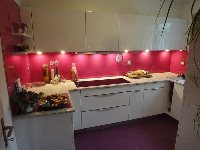 Pink Küche, pinke Küche, farbige Küche, Modern Kitchen, Moderne Planung, Style, Design