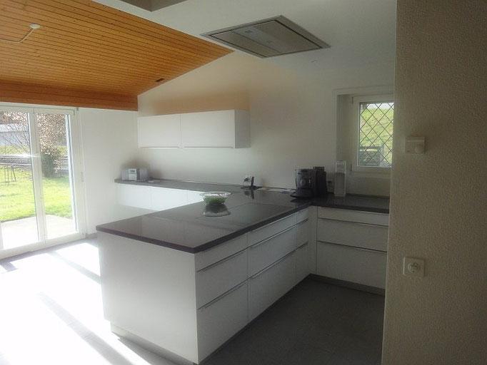 Deckenabluft, Küchen, Mattglas Küche, Glas Küche, Style Küche