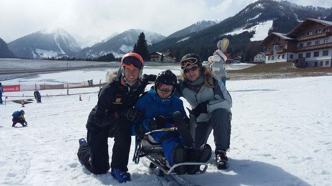 Skilehrer, Mutter und ich