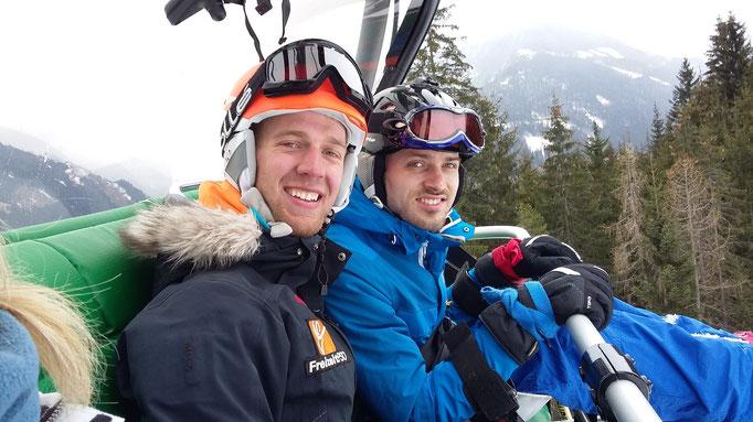 Mit Danilo(Skilehrer) im Lift