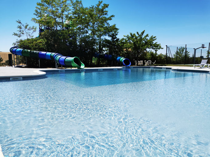 Parc aquatique, toboggans, piscines, Domaine du Koukano, Pays de Cocagne, village vacances, Terres d'Autan