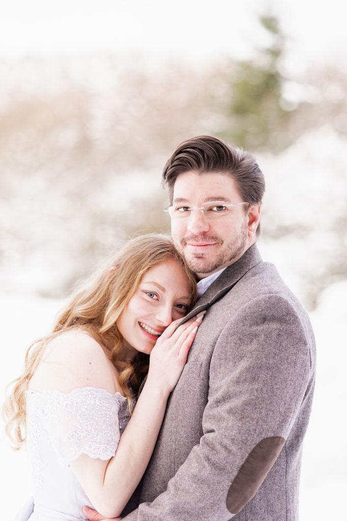 Verlobung im Schnee - Romantische Paarbilder im Winter, Neu-Anspach, Taunus