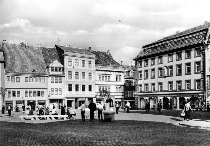 Gotha - Hauptmarkt - Ansichtskarte 1985