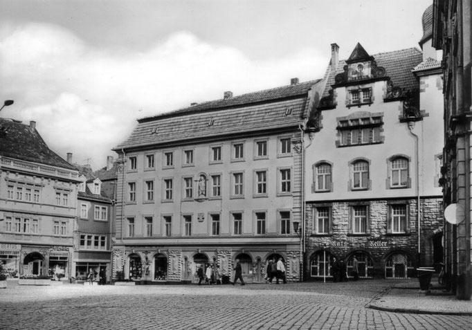 Gotha - Hauptmarkt - Ansichtskarte 1983