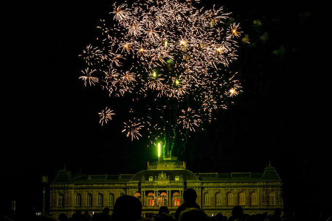 Feuerwerk über dem Herzoglichen Museum beim Gothardusfest 2018 in Gotha