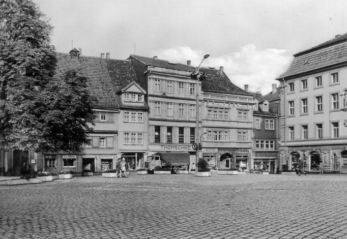 Gotha - Hauptmarkt - Ansichtskarte 1982