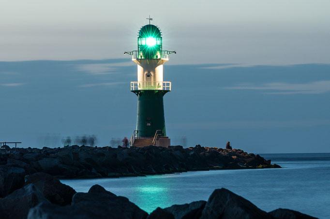 Leuchtfeuer der Westmole in Warnemünde