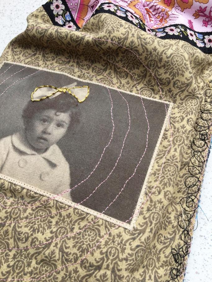 Stoffbeutel mit vintage Foto