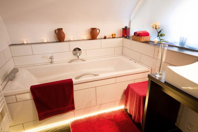 Der offene Badbereich